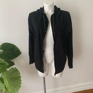 Athleta black zip up hoodie gently used size: MT